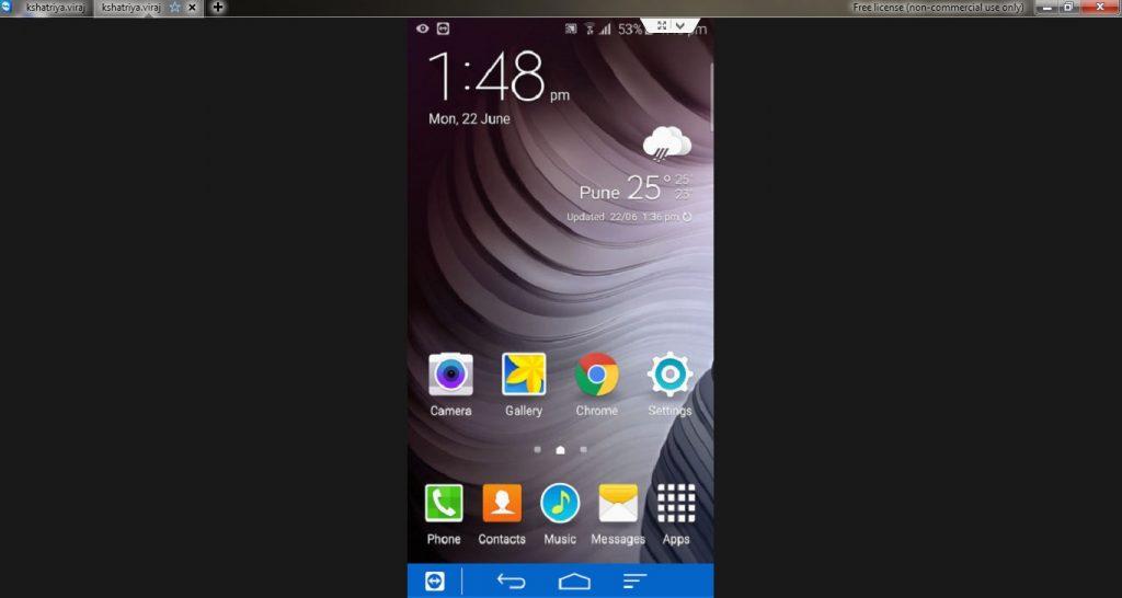 Android Screen Mirroring on Desktop