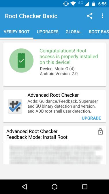 Root Moto G4 Plus (Root Checker)