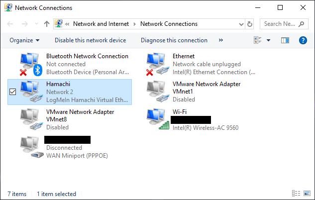 Hamachi Network Adapter Windows 10